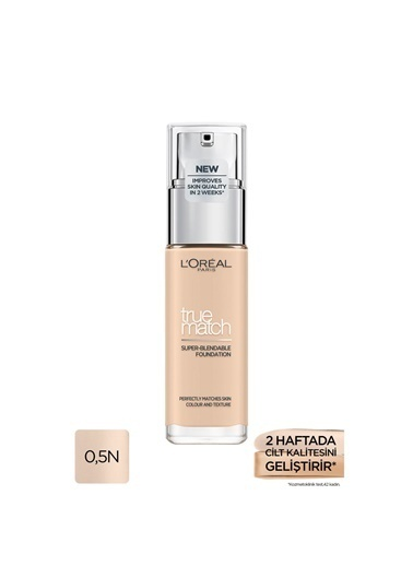L'Oréal Paris True Match Bakım Yapan Fondöten 0.5N Porcelain Ten